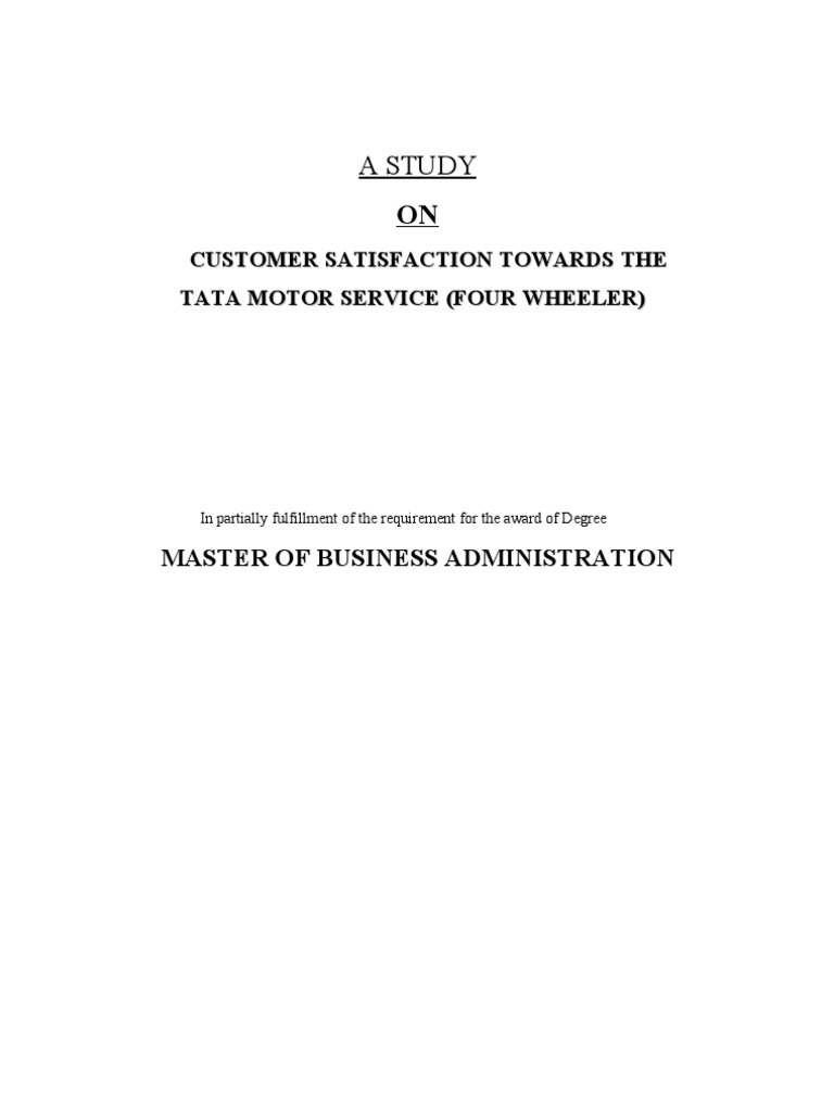 customer satisfaction review of literature on tvs motors 31 31 review of literature this chapter attempts to review different literatures on customer satisfaction with reference to hotel industry and presents various studies made regarding the issues.