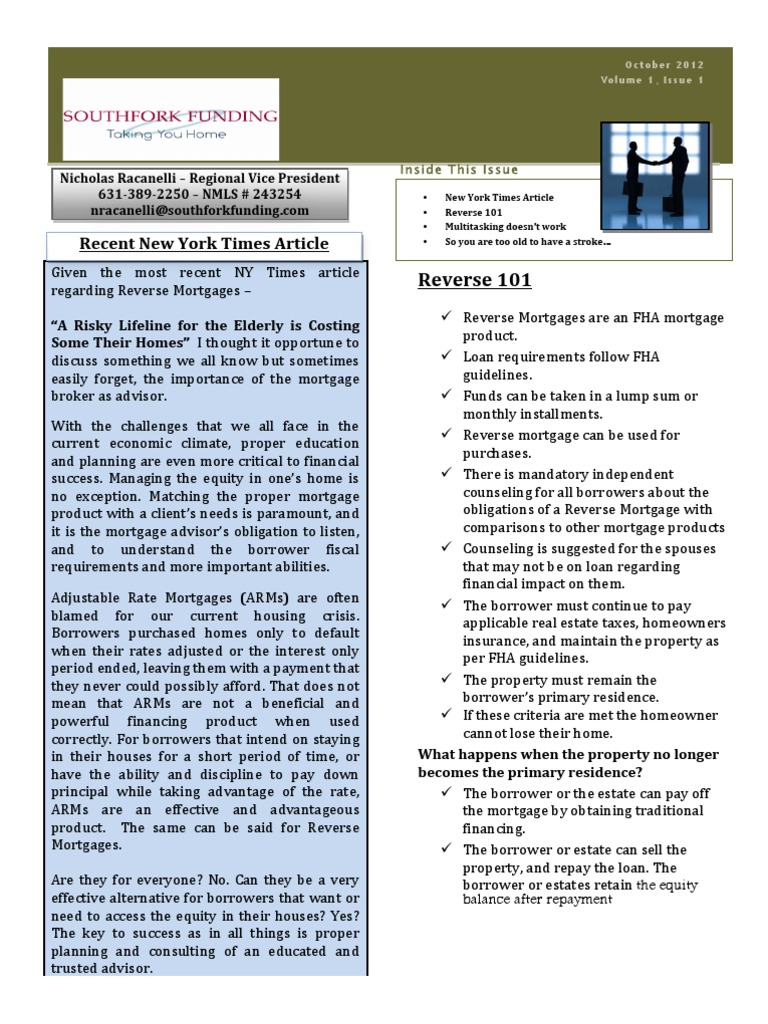 reverse mortgage essay Reverse mortgages term papers, essays and research papers available summary: this is a five-page, mla-cited paper discussing reverse mortgages it details the three types of reverse mortgages, the terms of payment and qualifications.