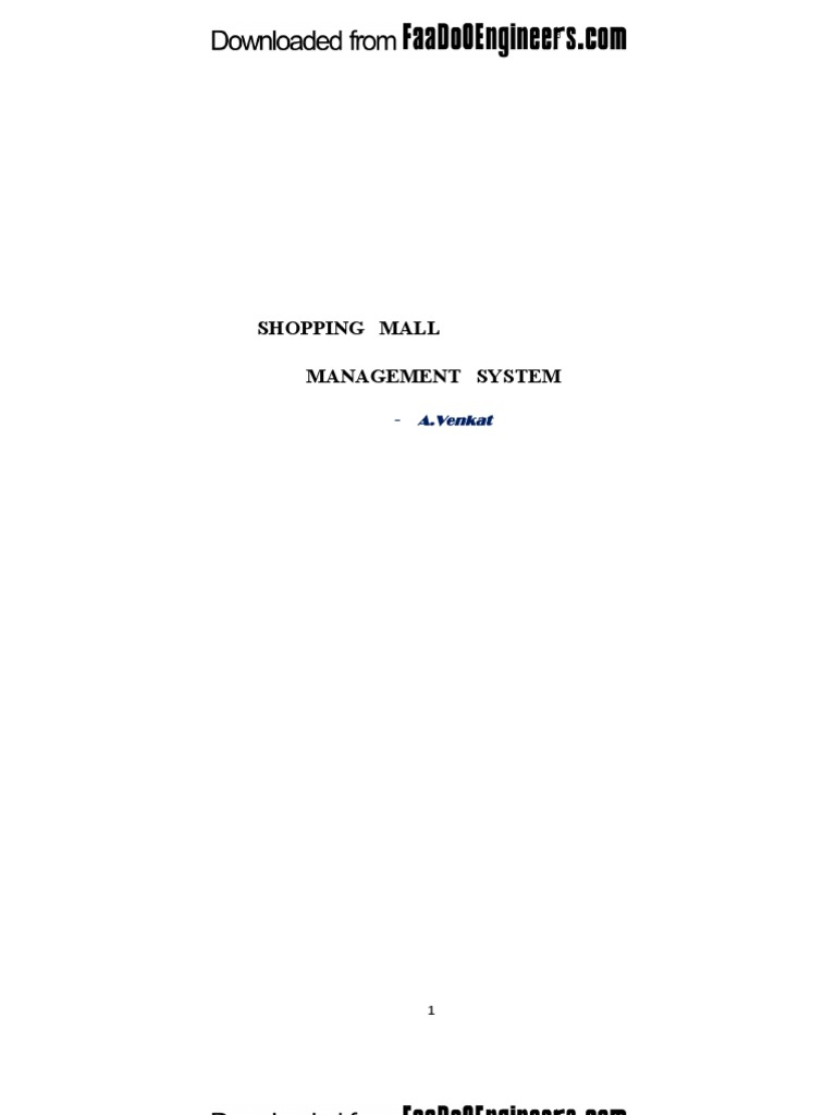 Download Report Shopping Mall Management System unlocked