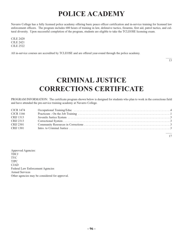 Criminal Justice Corrections Certificate Plan - DocShare.tips