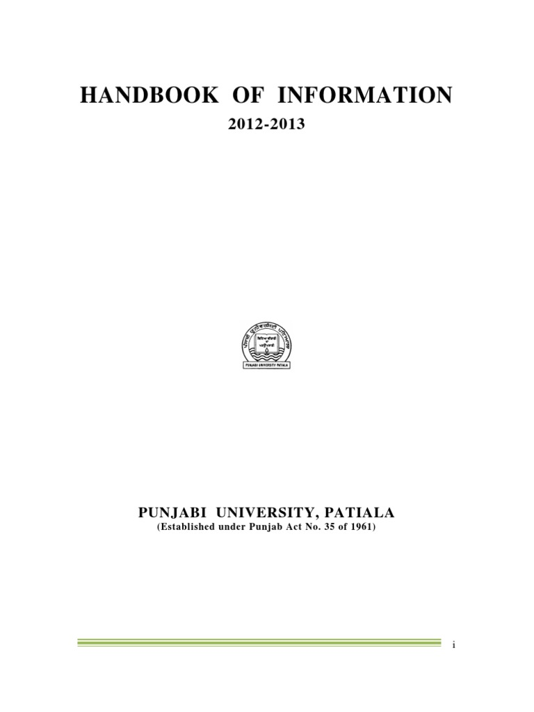 Revised Handbook of Information 2012-13 Final VER 3 - DocShare tips