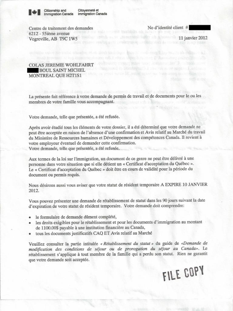 Download Lettre De Citoyenneté Et Immigration Canada