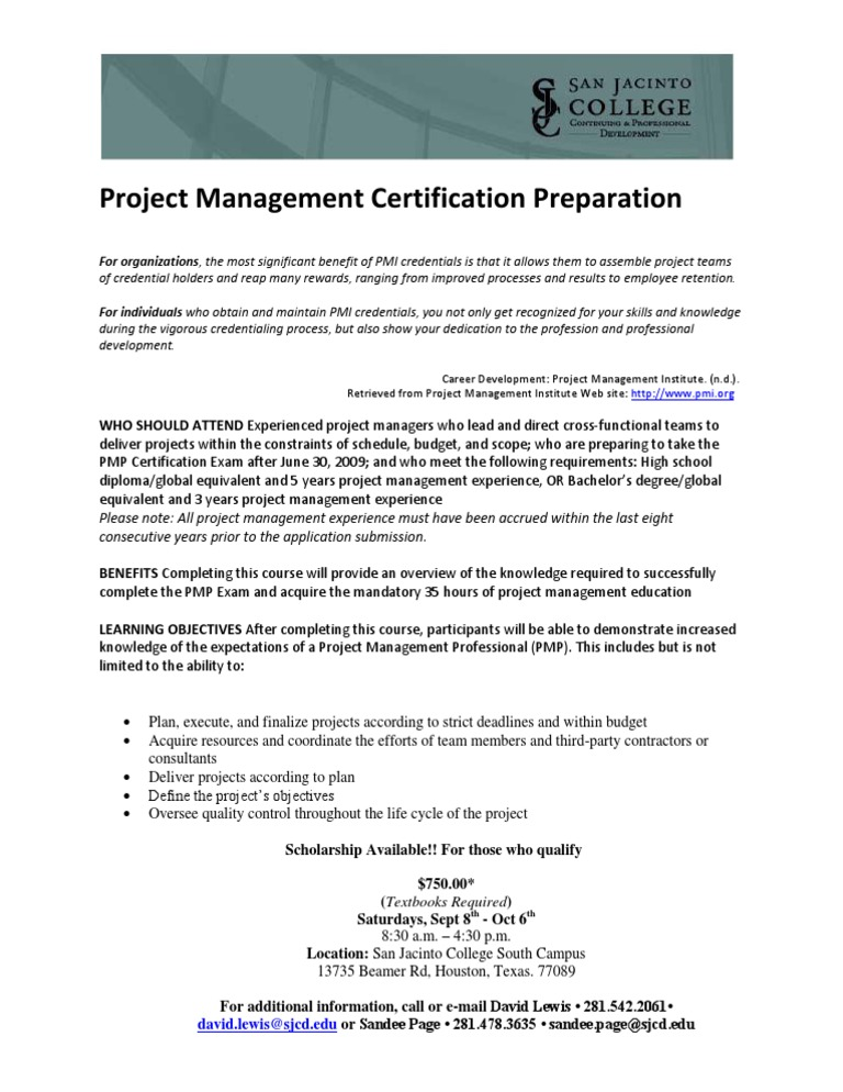 Download The Benefits Of Project Management Certification Docshare