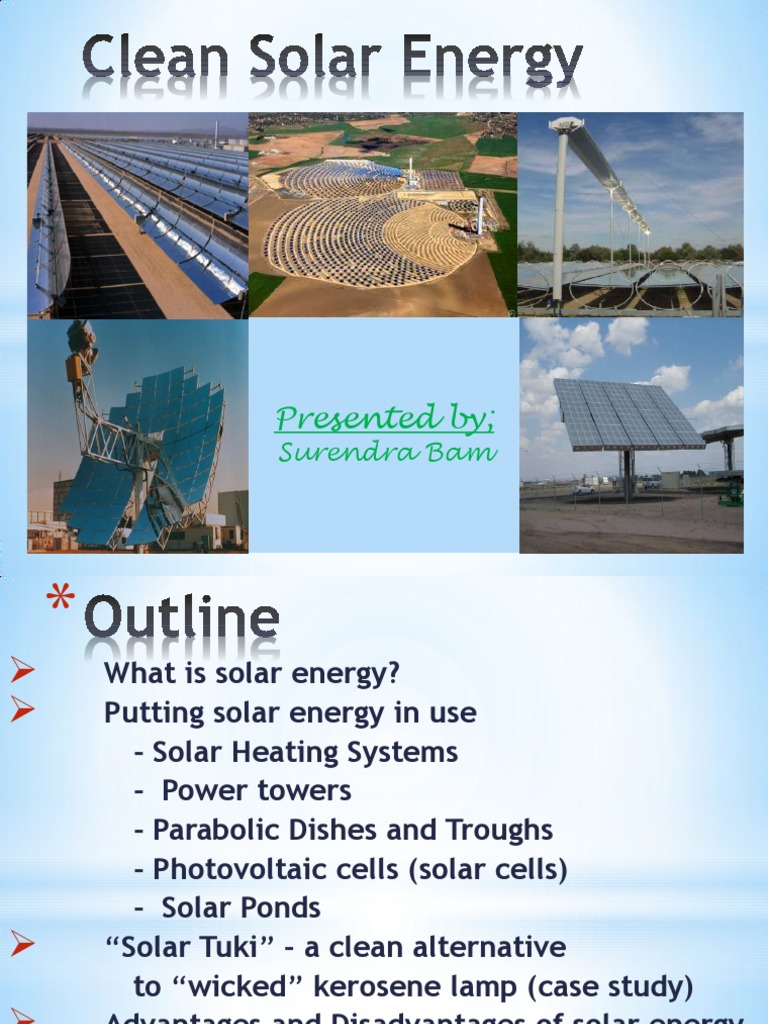 solar energy outline