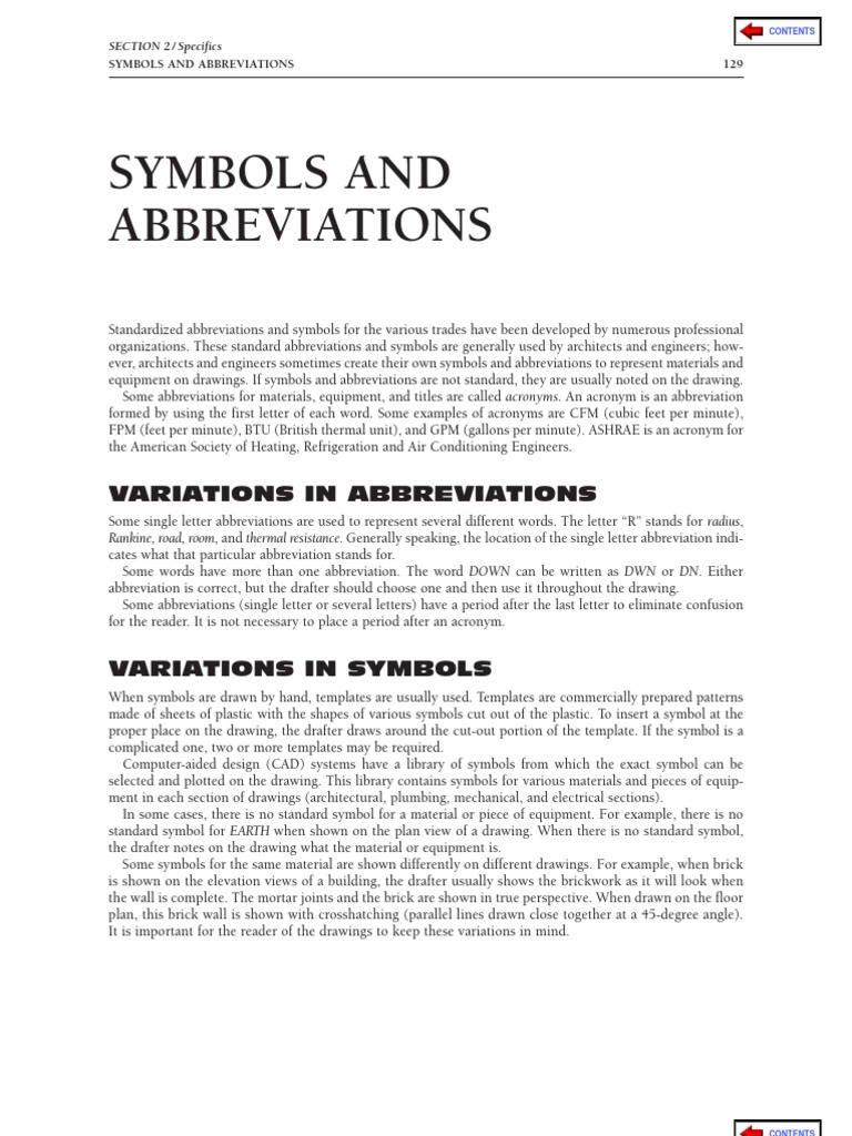 Download 116524333 Symbols Abbreviations ASHRAE Architectural Site – Site Plan Abbreviations