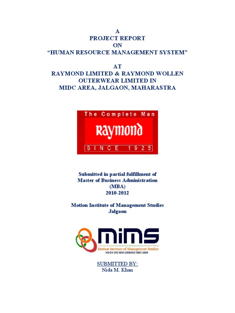a report on human resource managers