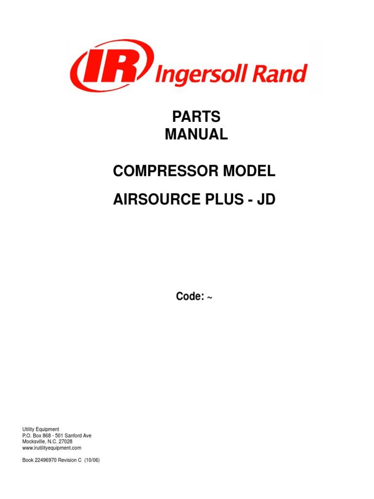 download ingersoll rand dryer o m manual 80442833 en docshare tips rh docshare tips manual compressor ingersoll rand 185 Ingersoll Rand 185 Non-Portable