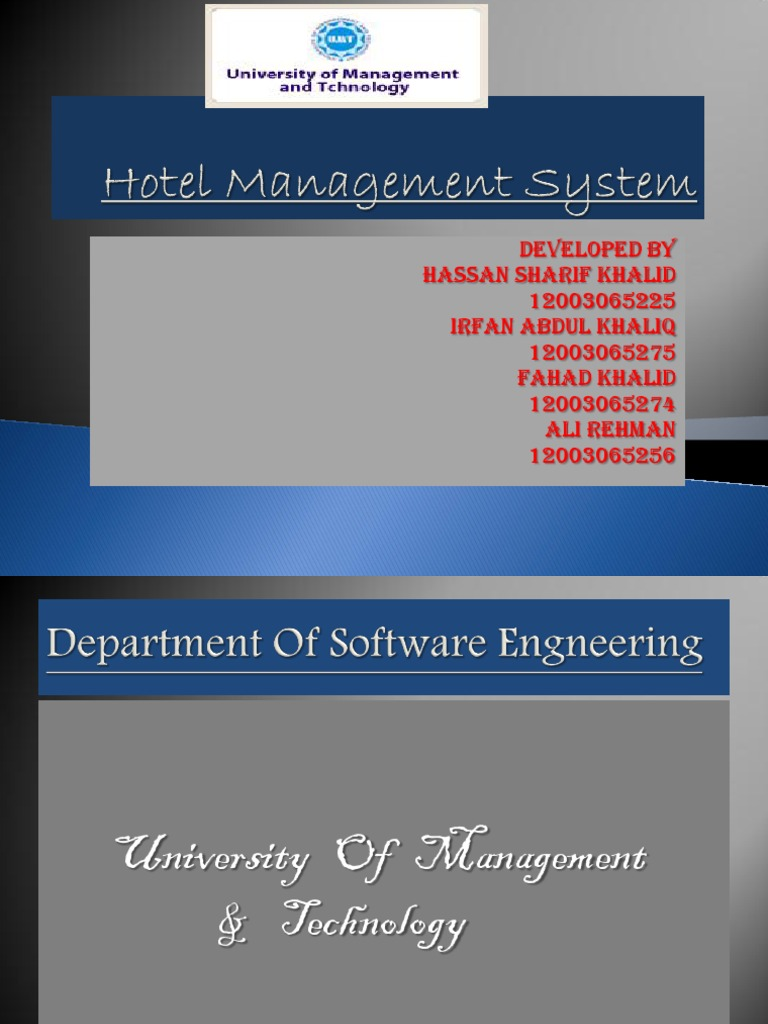 hotel management dissertation
