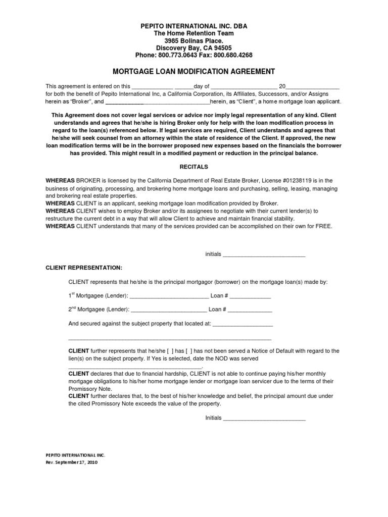 Download Loan Mortgage Modification Process Docshare