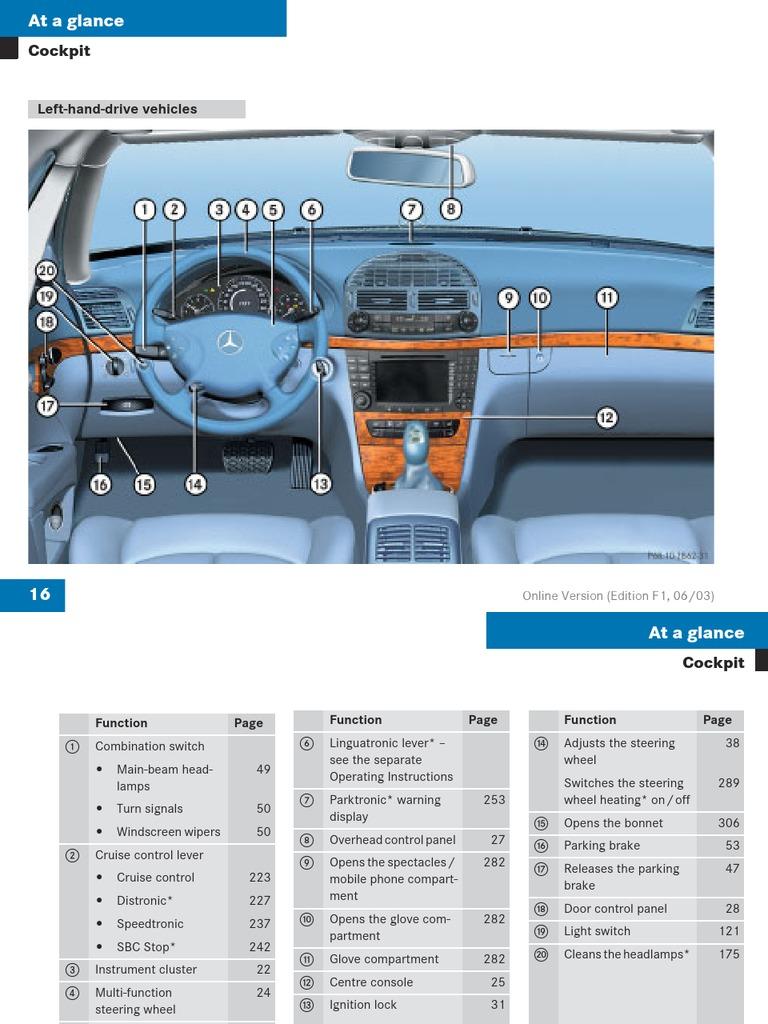 download mercedes e class w211 user manual docshare tips rh docshare tips mercedes w211 owners manual pdf mercedes w211 owners manual