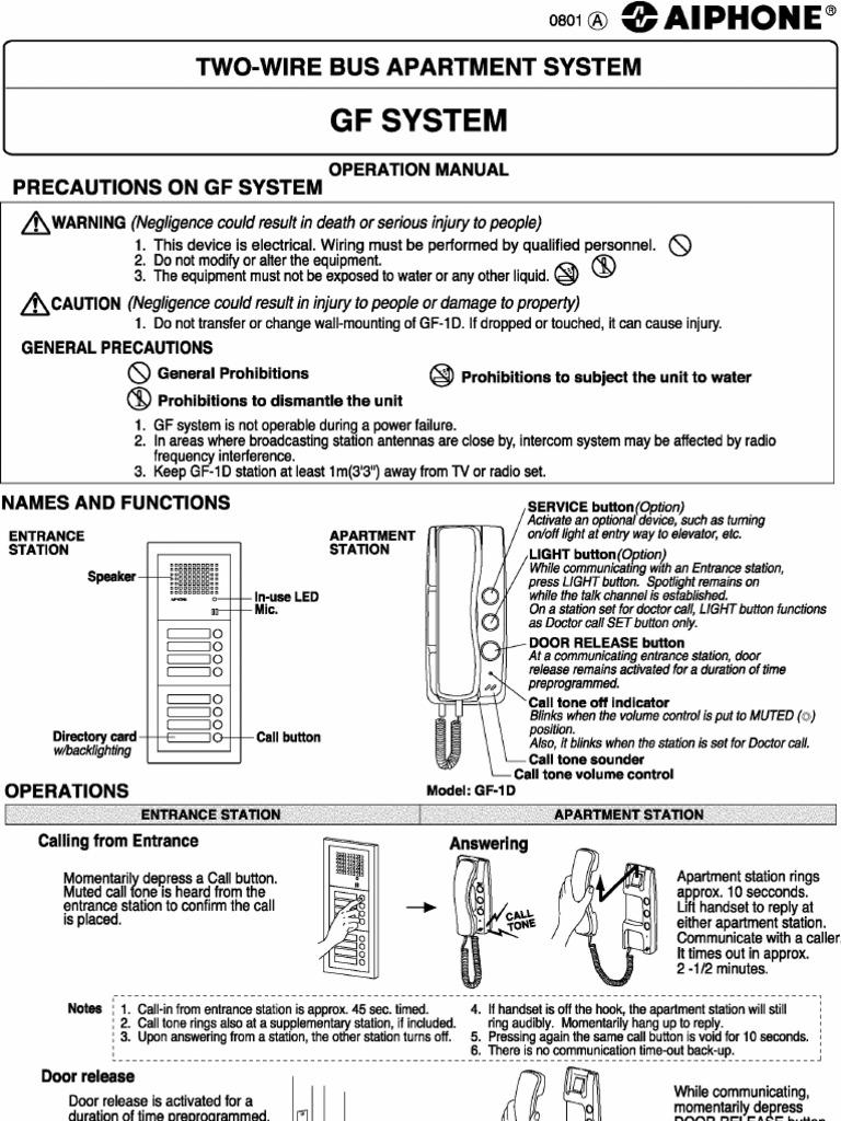 Download Aiphone Model Gf Ns Mk Reset Procedure Westside Wiring Diagram Op Man Wholesale Call 1 877 998 9378