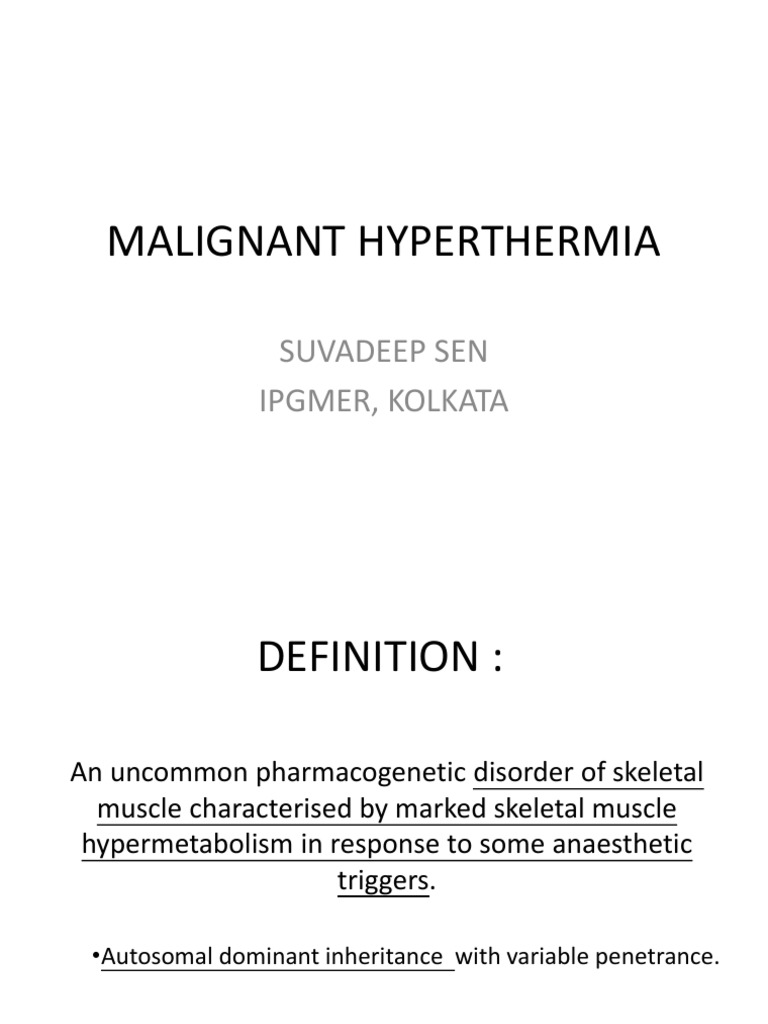 essay on malignant hyperthermia