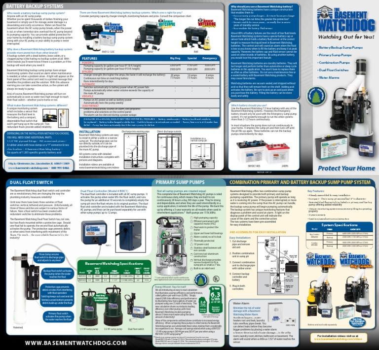 watchdog sump pump battery backup - Watchdog Sump Pump