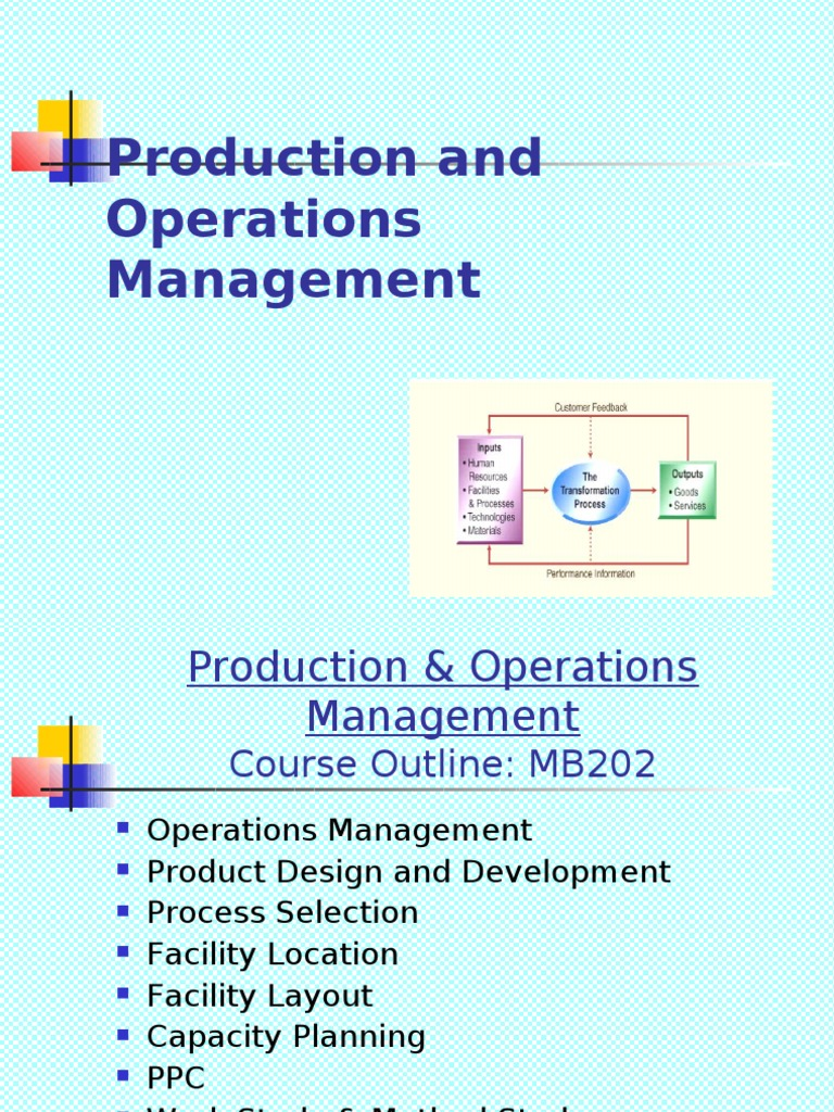 productions and operations managment Production and operations management by s n chary pdf free pdf download type the following commands exactly as you see them and hit enter after each.
