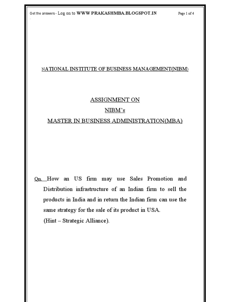mba 2nd sem ass Mba-2nd sem syllabus - download as pdf file (pdf), text file (txt) or read   assignments is also required to develop a good understanding of the subject for.