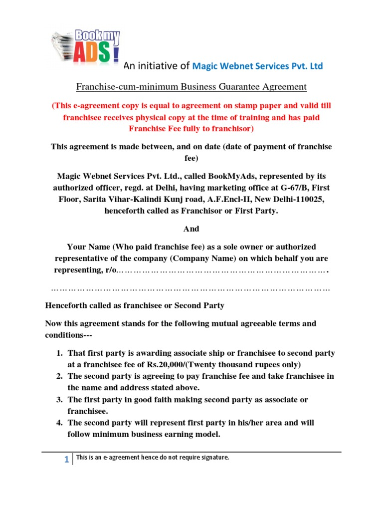 Download Franchise Agreement Docshare