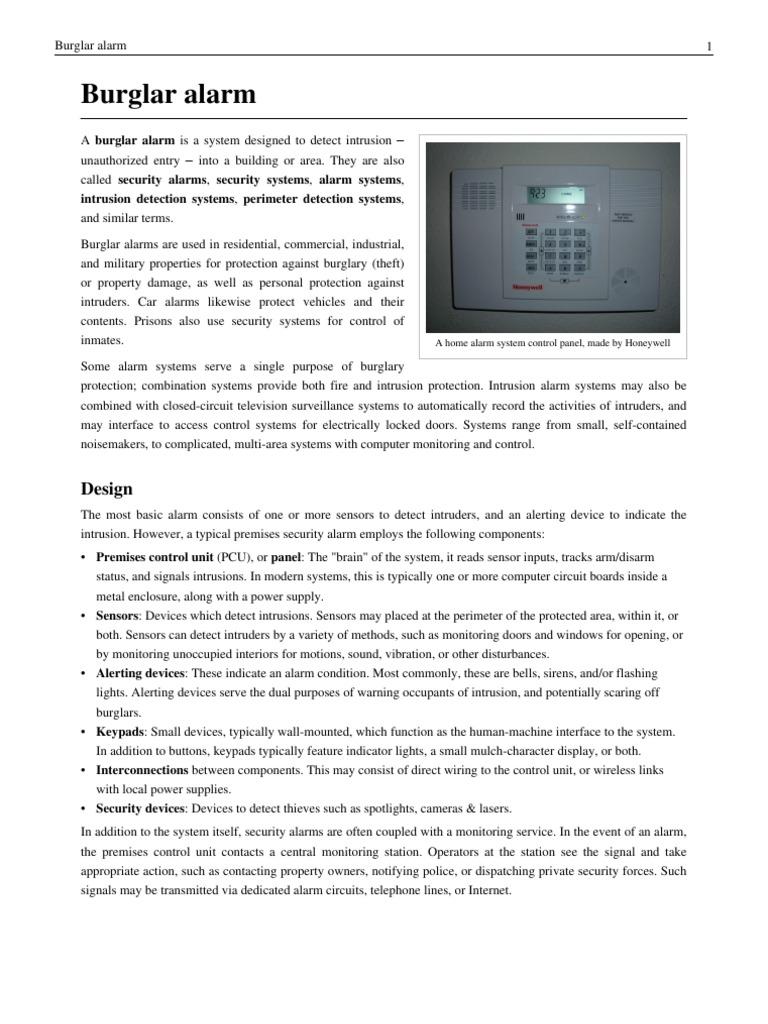 Download Simple Burglar Alarm Circuit Home Alarms Entry