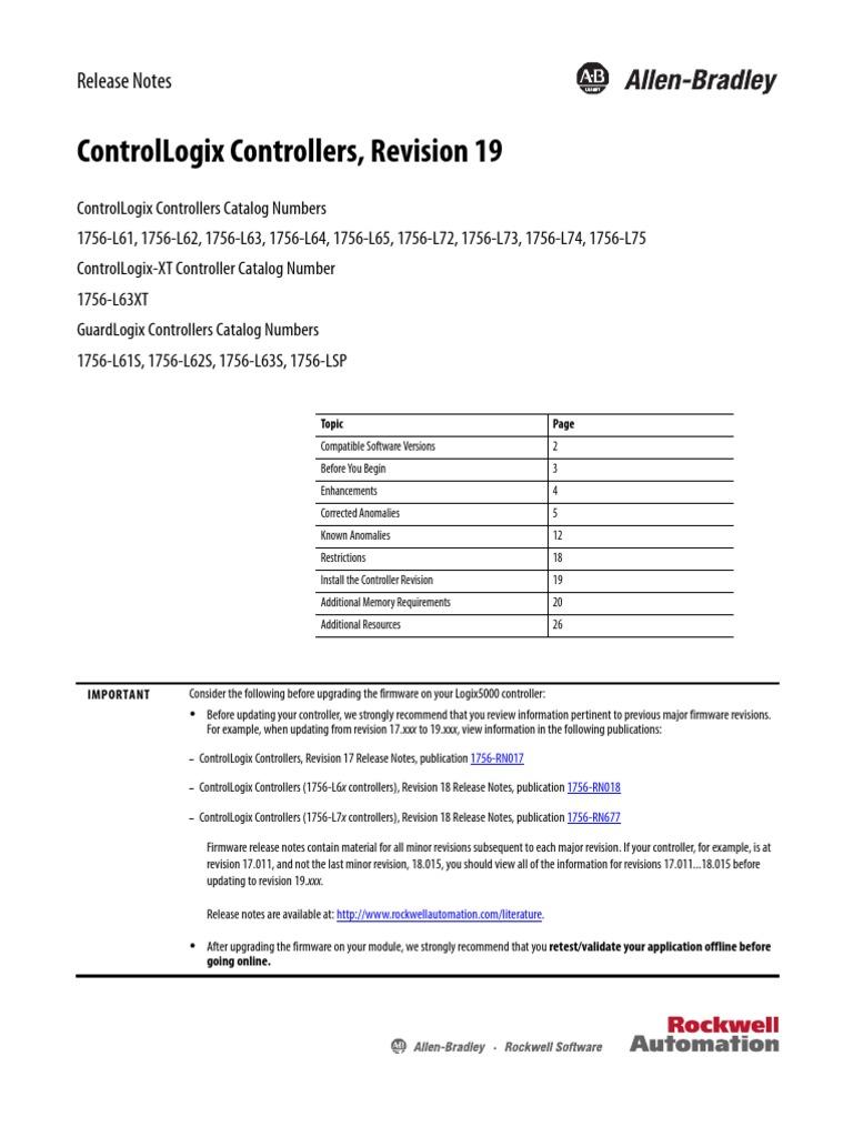 1756 l61 firmware compatibility