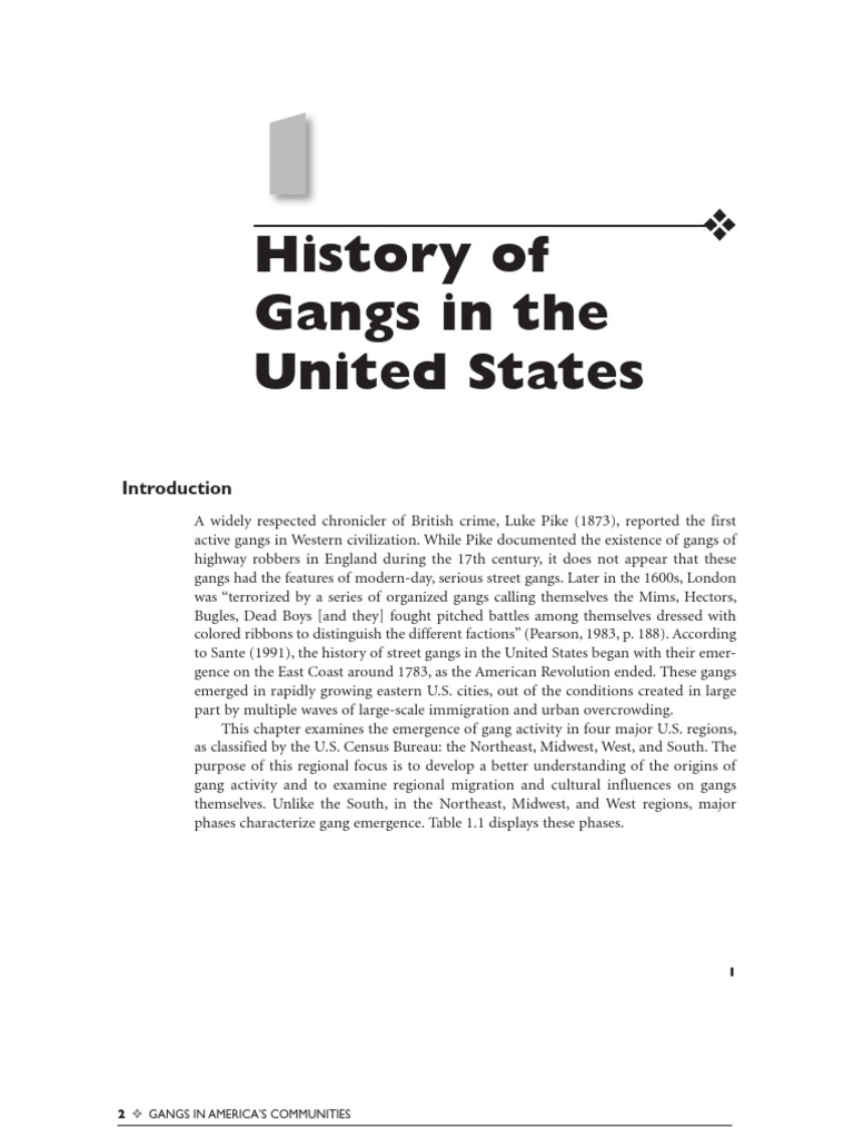 the emergence of gangs in america and the role of family disintegrations to the problem 2 behavior following an apparent hiatus of youth gangs during the 1970's (bookin-weiner and horowitz, 1983), american society witnessed a reemergence of youth.