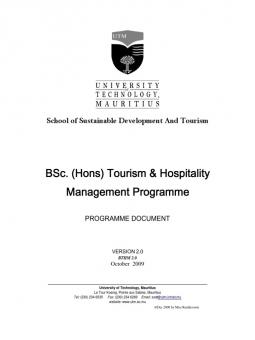 stakeholder management in tourism and hospitality Subject:hotel & tourism management paper: tourism and hospitality: concept, component, status and trends.