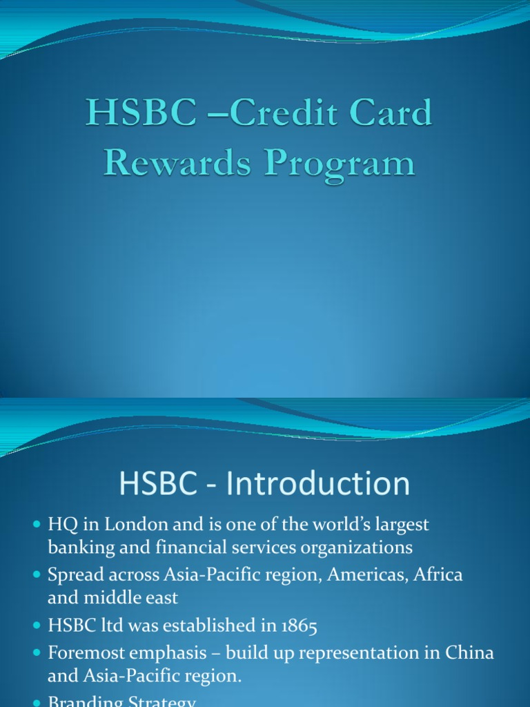 Download HSBC Credit Card Rewards Program - DocShare tips