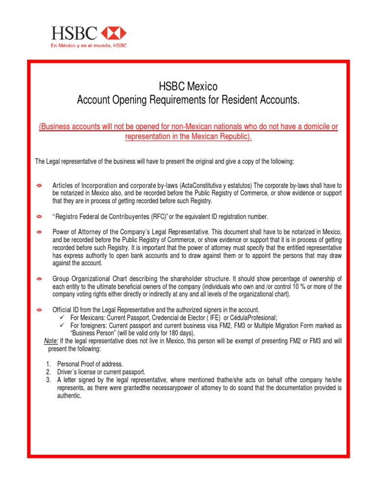 Download Resident Account Opening - Checklist - DocShare tips