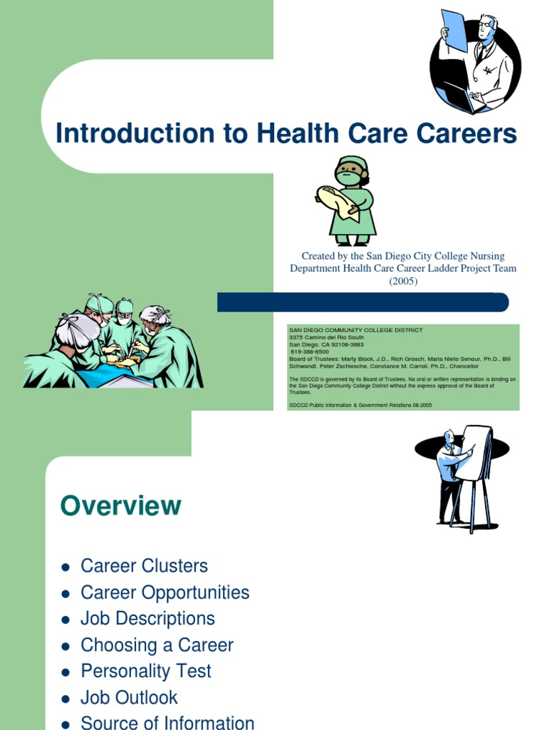 careers in healthcare essay