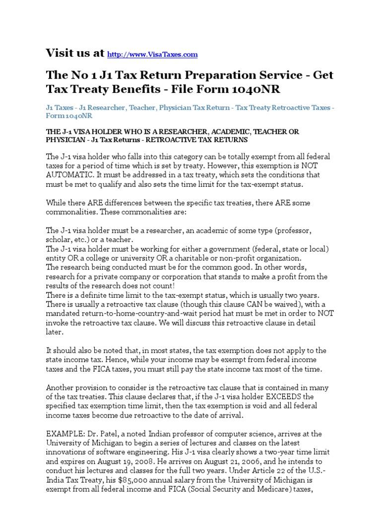 Download J1 Visa Tax Return Researcher Physician J1 Taxes Docshare Download  J1 Visa Tax Return Researcher How To File