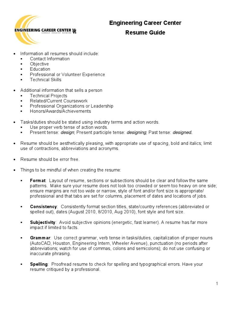 student resume guide docsharetips