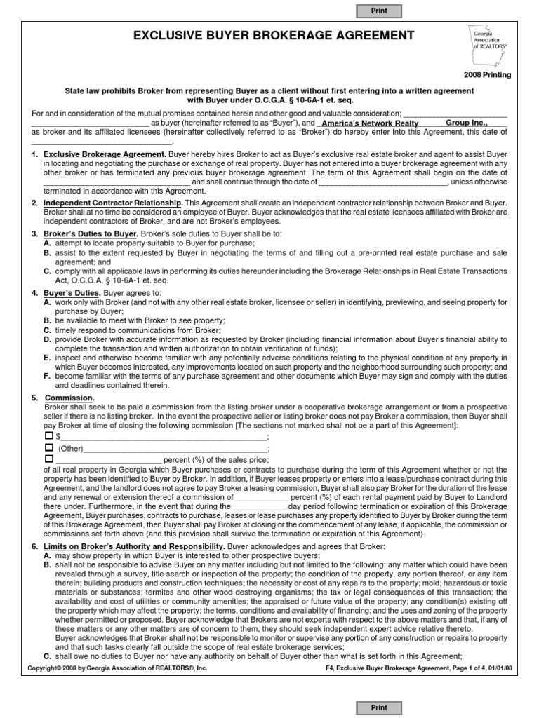 Download Exclusive Right To Represent Buyer Agreement Docshare Tips