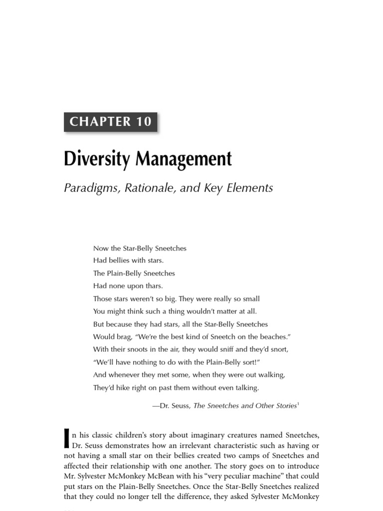 diversity in management essay Here diversity management plays a big role as it often improves the knowledge of how to operate in different cultures it also improves an organisation's understanding of the needs of new customers and clients, as a group of heterophilous individuals is more creative and effective because of their differences.