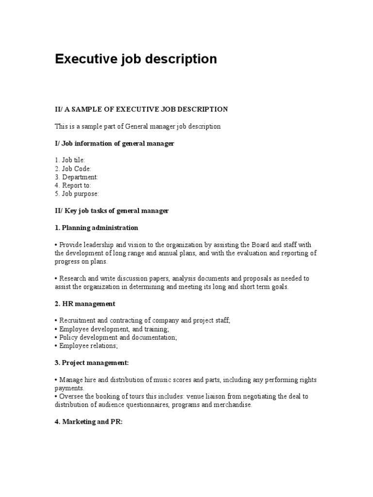 recruitment project part 3 job description