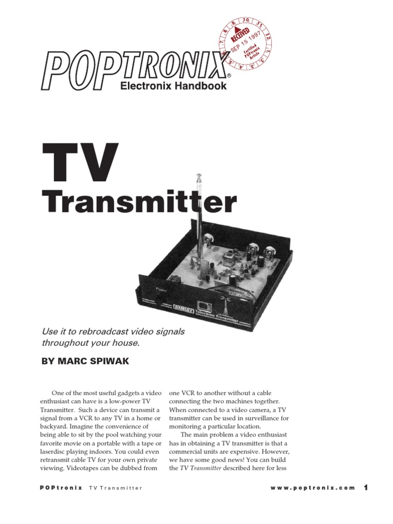 Download 15v Fm Transmitter Circuit 88 108mhz Using Tv