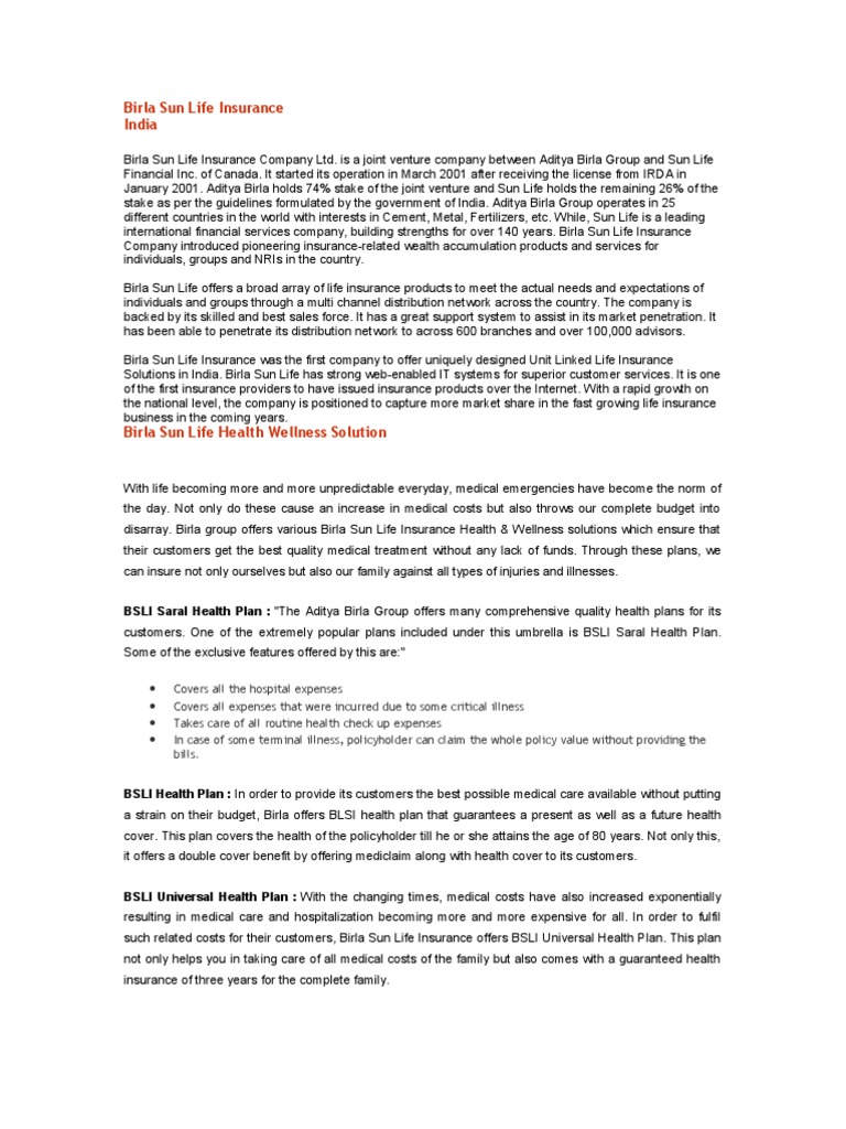 literature review of aditya birla sunlife insurance company Read 3 reviews from current students and alums for be in civil engineering at adhiyamaan college of engineering find out details like admission processs, eligibility, fees, rankings, placements, infrastructure and much more at shikshacom.