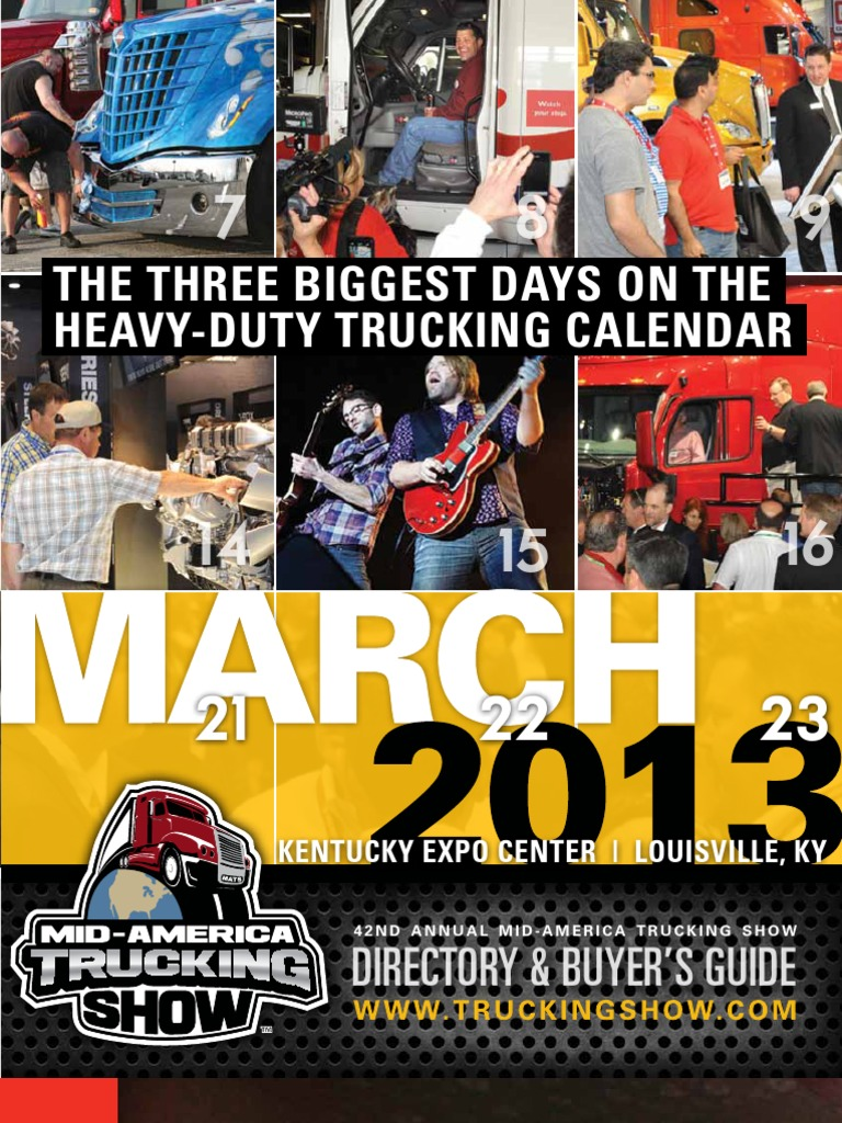 2013 Mid America Trucking Show Directory Buyers Guide Docsharetips