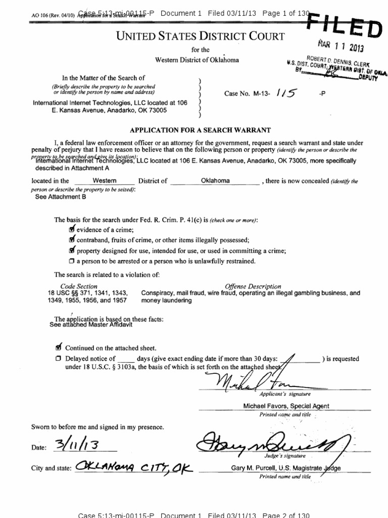 Search Warrant Application - DocShare tips