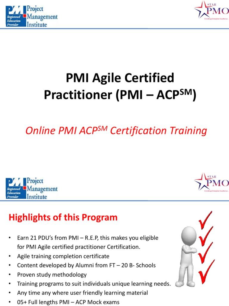 Online Agile Training Online Agile Certification Online Pmi Acp