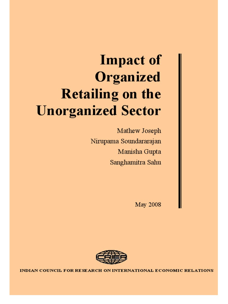 organized retail in india The retail trade in india is the second largest employer after agriculture, employing 72% of total workers (as on 2007-08) and is expected to play a significant role in.