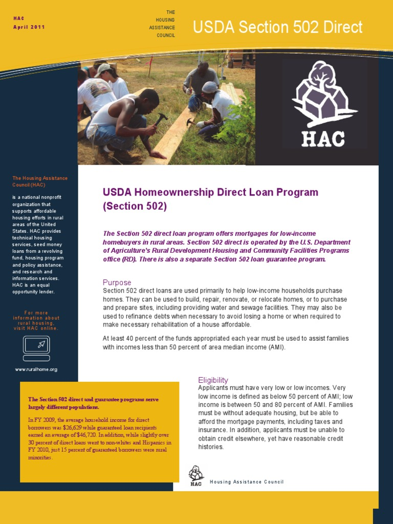 rural housing service program enabling low Rural housing service contacts programs & services usda rural development operates over fifty financial assistance programs for a variety of rural applications.