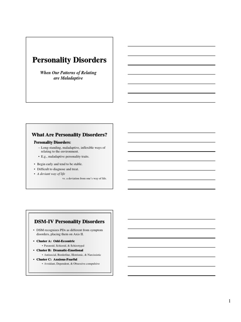 Download Personality Disorders - DocShare tips