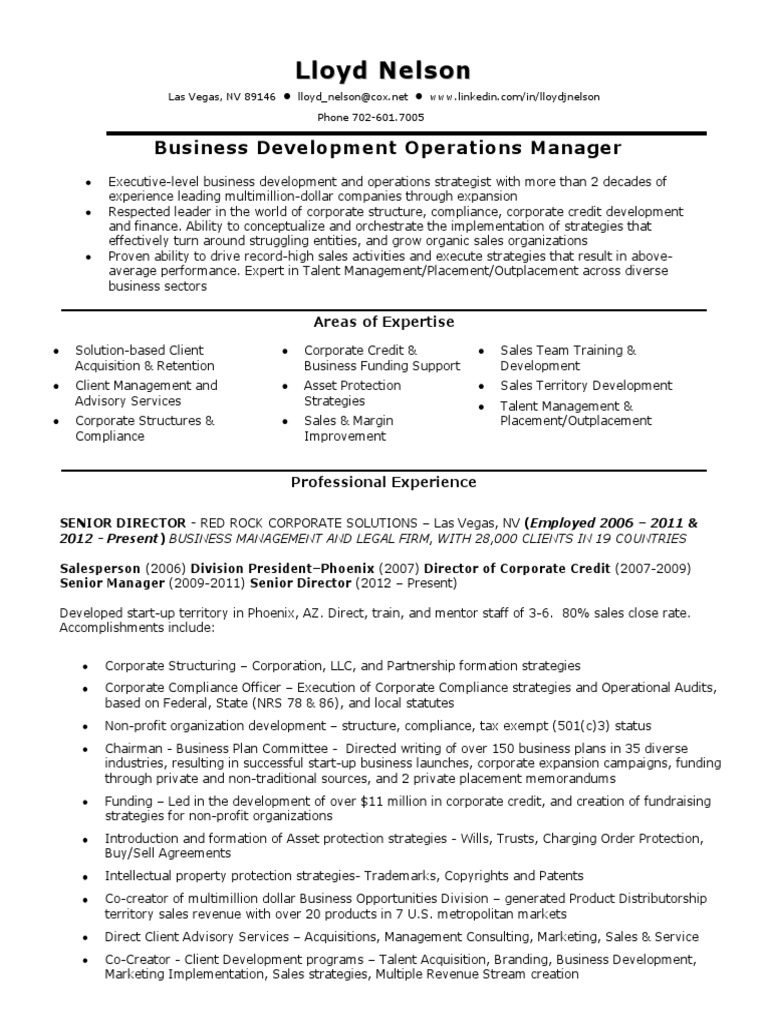 Download Business Development Operations Manager in Las Vegas NV ...