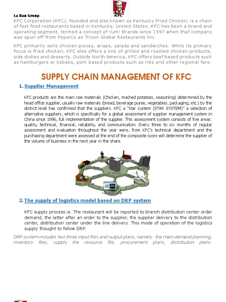 kfc implementation evaluation and control Opex reduction and control during the last three years in asia i was responsible for the evaluation, design, implementation and supply chain manager at kfc.