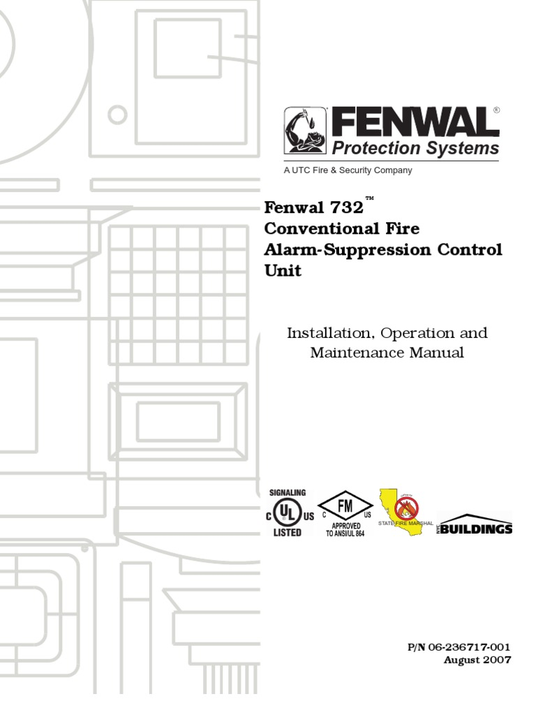 Download Fenwal 732 Conventional Fire Alarm Suppression Control Signaling Line Circuit Wiring Manual Firelite Alarms Unit
