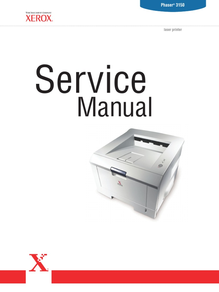 Xerox Phaser 3150 Service Manual