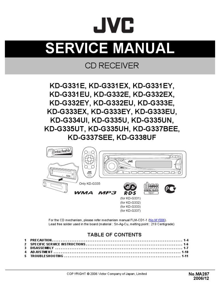 jvc kd g210 wiring diagram a320 wiring harness kawasaki mule 610 Yamaha Wiring Diagram  JVC CD Player Wiring-Diagram Standard Car Stereo Wire Diagram Audio Control Wiring Diagram