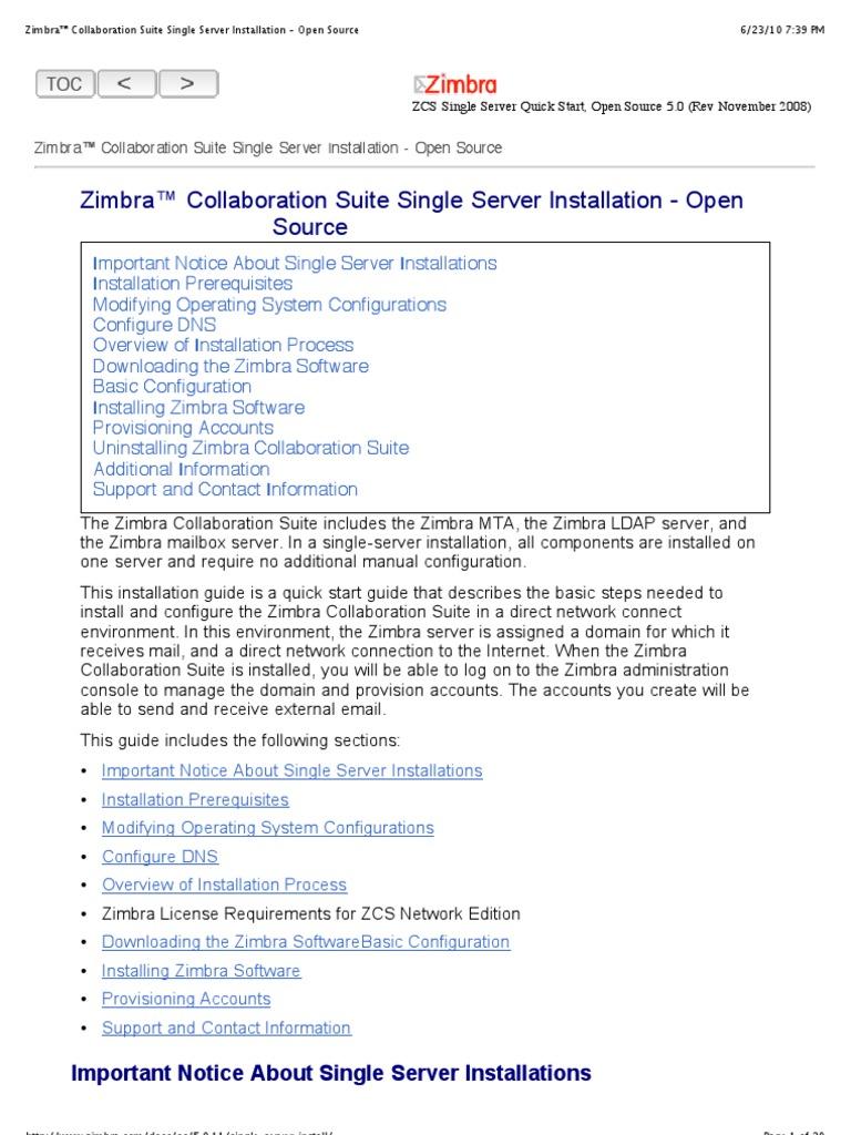 download zimbra server open source