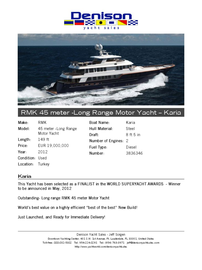 Download 149' RMK - Long Range Motor Yacht - Karia 2012