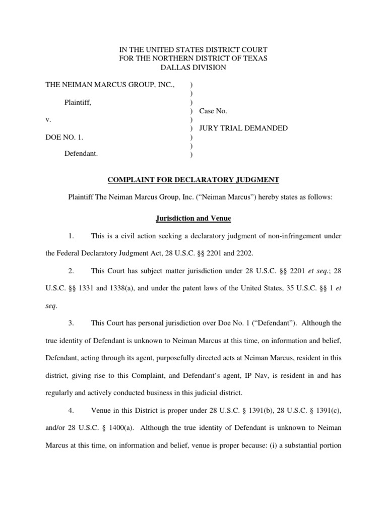Download The Neiman Marcus Group, Inc  v  Doe No  1  - DocShare tips