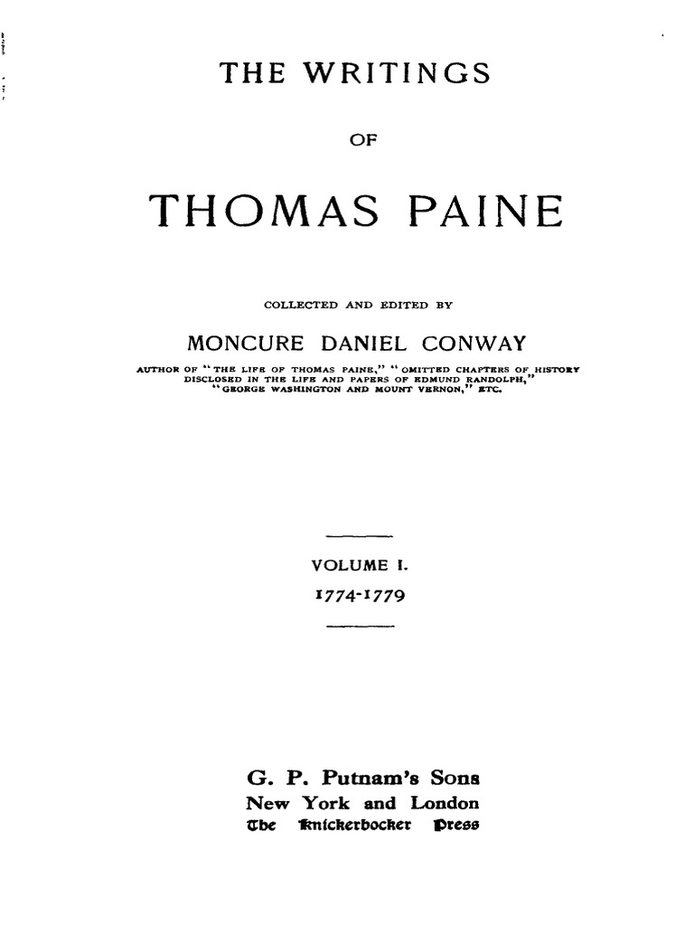 thomas paine the crisis 2 essay Thomas paine constructs common sense as an editorial on the subject of the relationship between the colonies and great britain  however, where common sense seems to be an opinionated essay, thomas jefferson writes somewhat of a call to battle  paine however, presents his ideas in more of.
