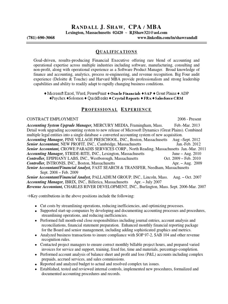 100 oracle financial consultant resume director of finance